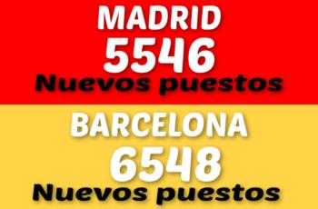 Más de 12.000 vacantes de empleos fueran publicados entre Madrid y Barcelona